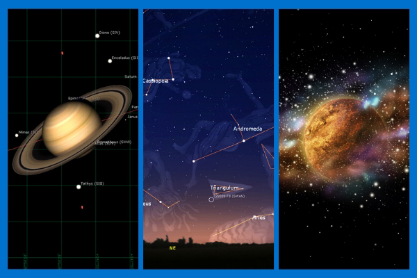 Saturn, Constellations & Earth