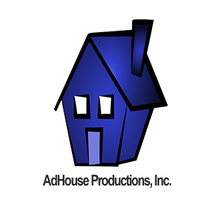 blue house AdHouse logo